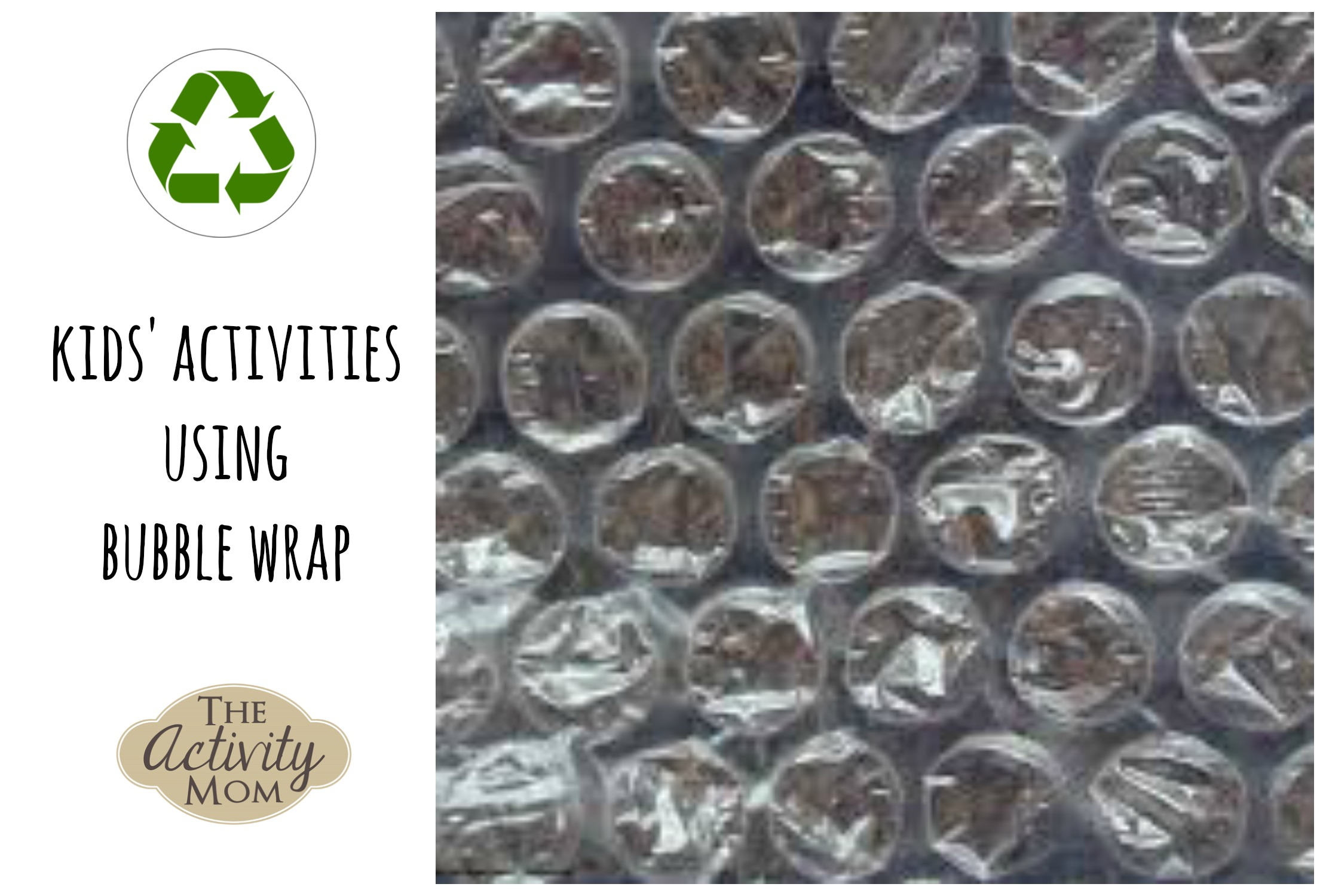 Activities using Bubble Wrap