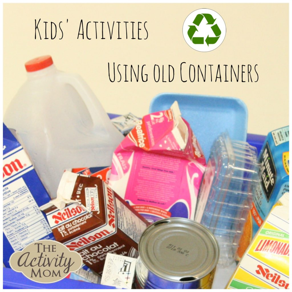 Kids' Activities using Old Containers