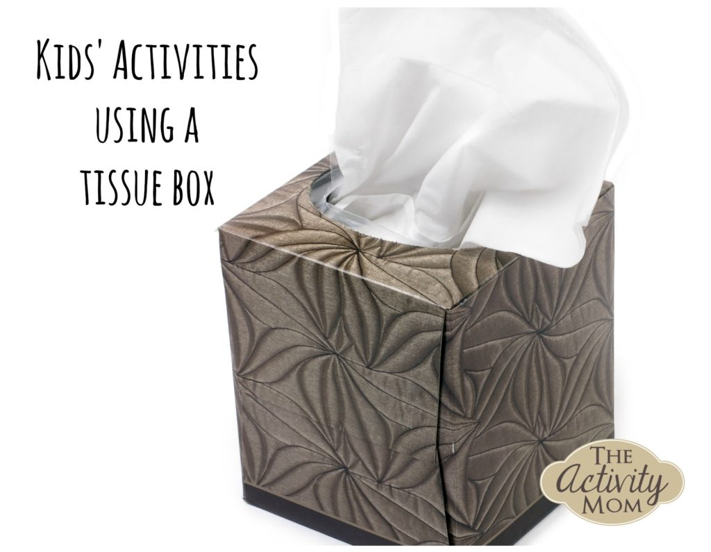 Kids Activities using a Tissue Box