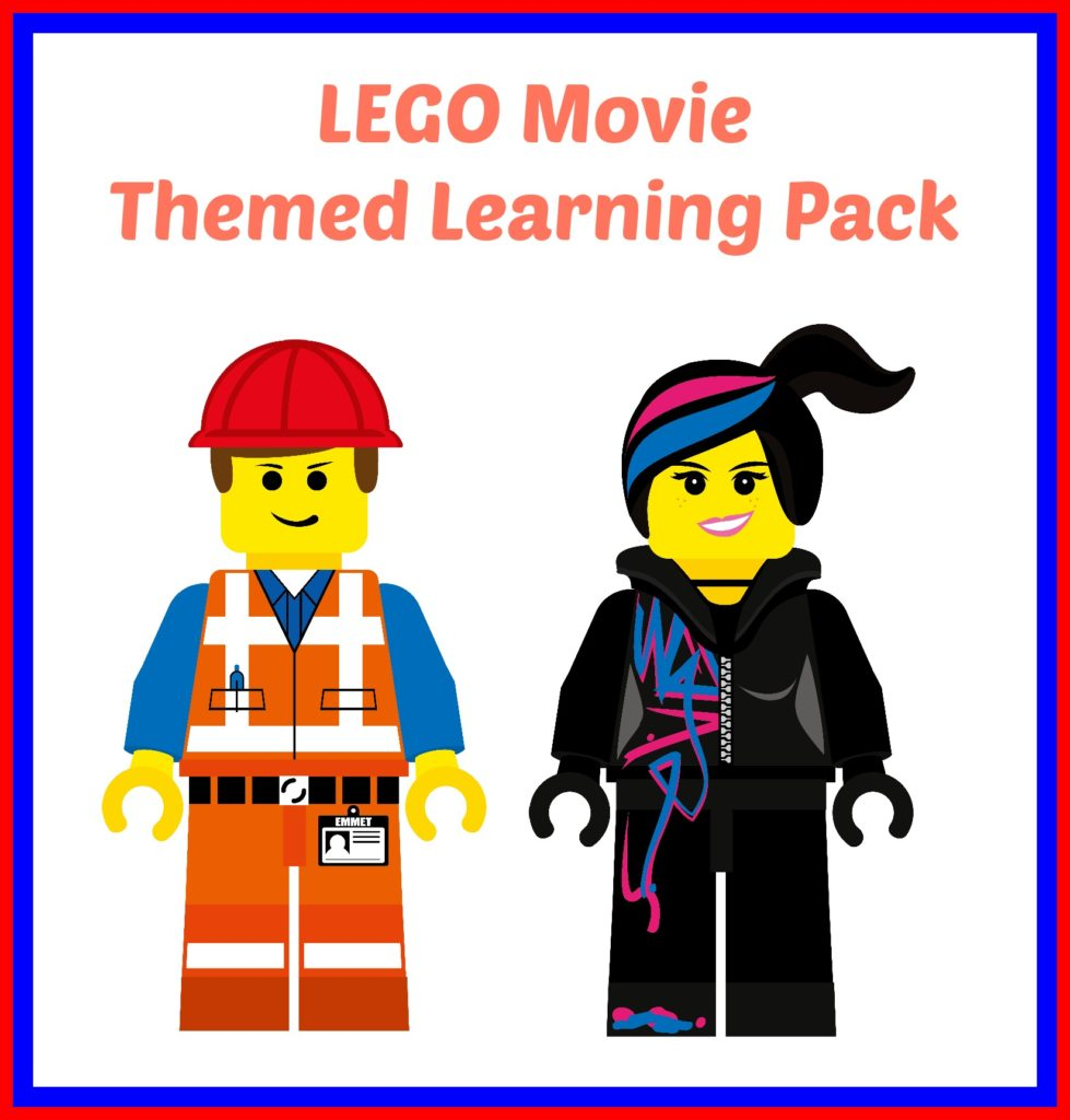 Lego movie themed learning pack