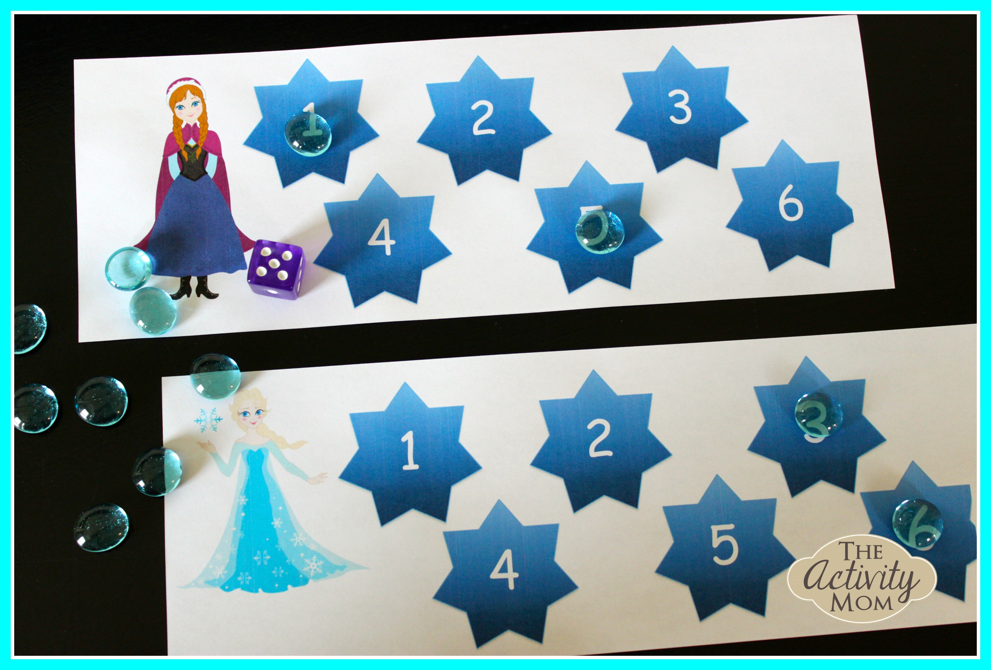 Frozen Themed Dice Game (printable) - The Activity Mom