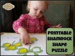 Shamrock Shape Puzzle (printable)