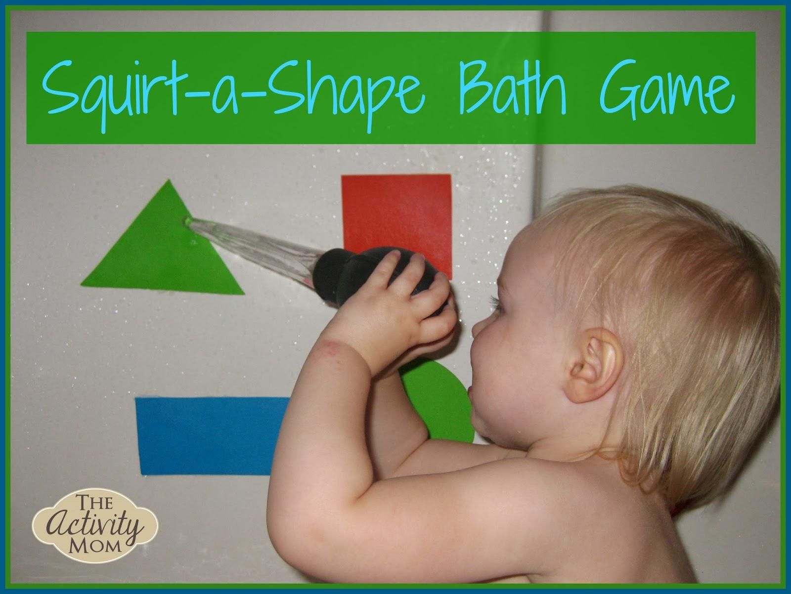 Squirt a Shape Bath Game