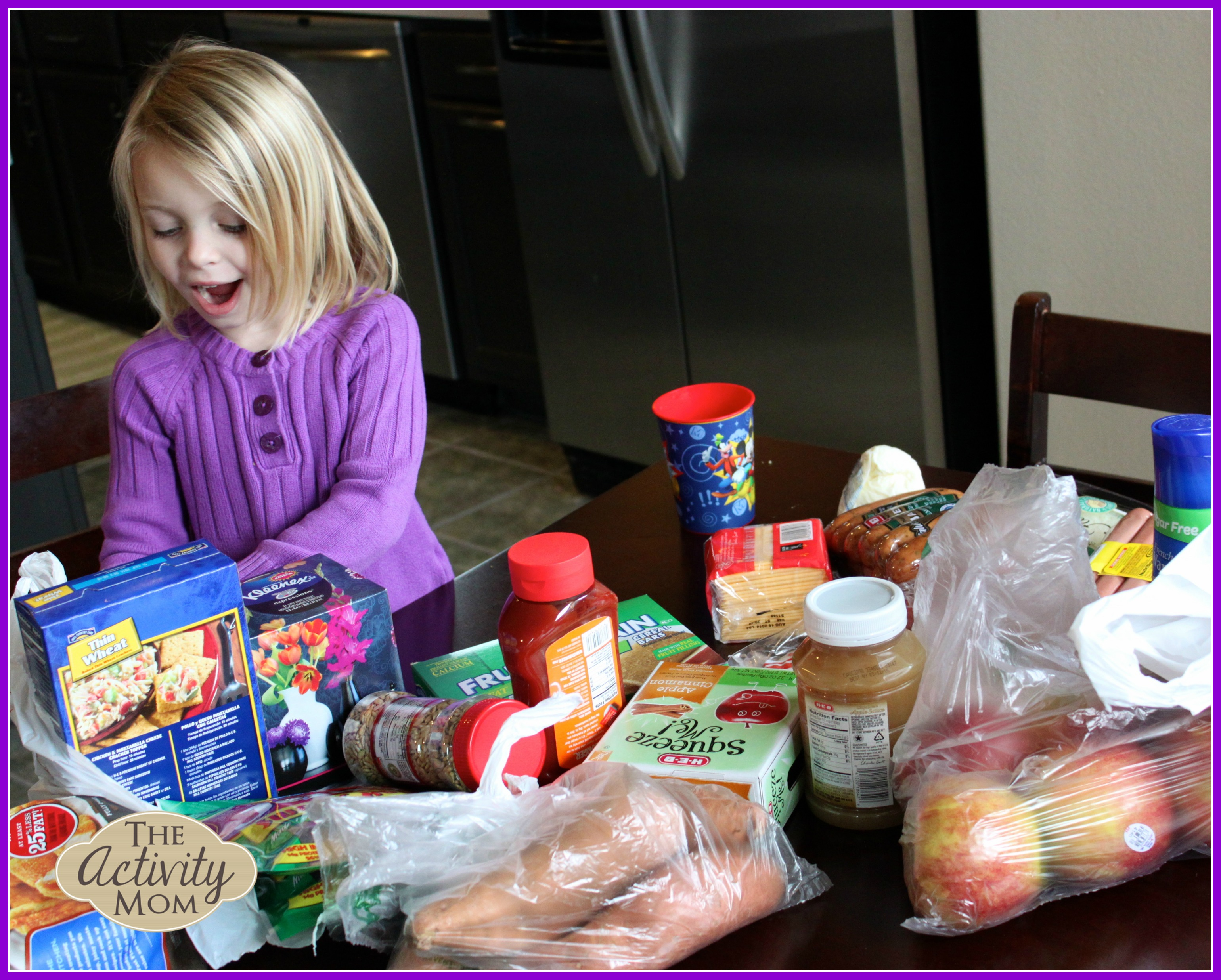 Kids' Activities with Groceries