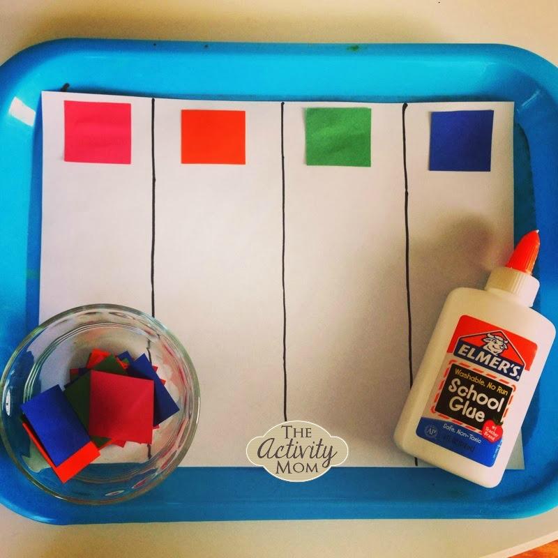 Toddler Color Sorting Craft
