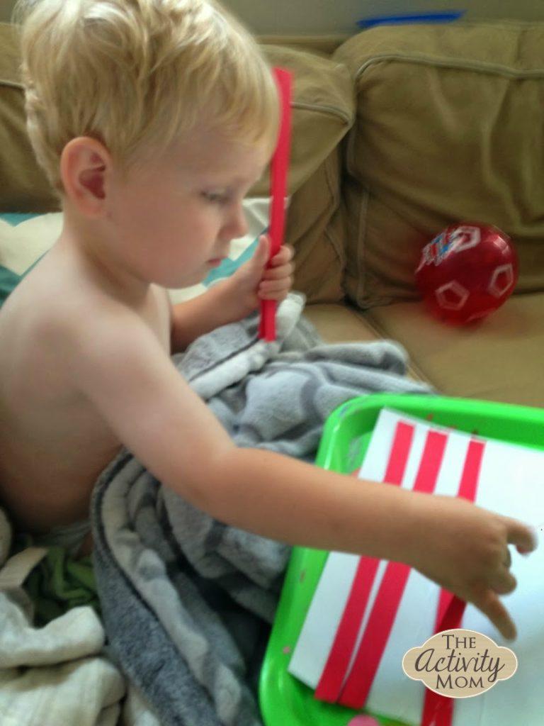 Toddler Flag Craft 2