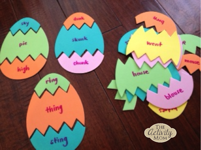 Easter Egg Rhyming Words