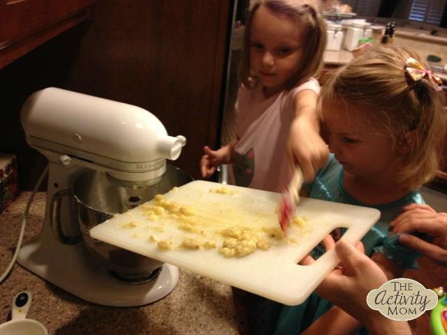Scraping bananas