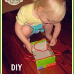 DIY Toddler Lacing Toy