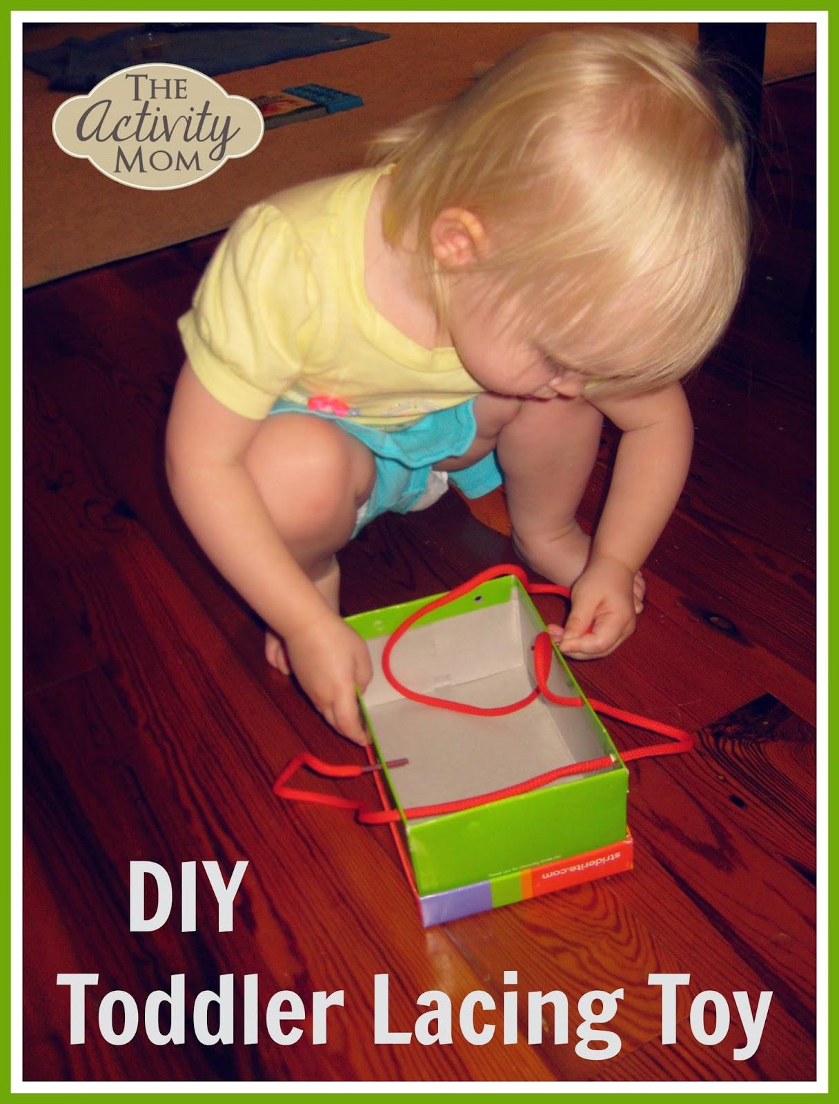 DIY Toddler Lacing Toy
