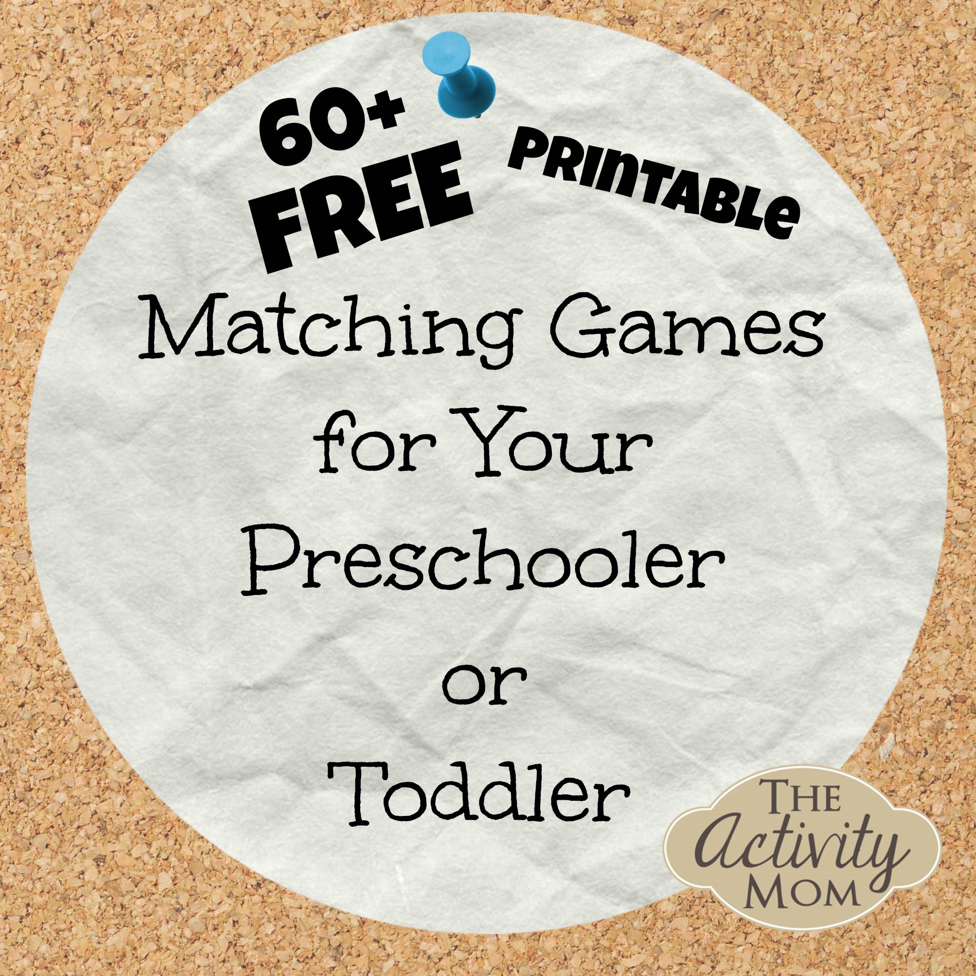 free printable matching games - Toddler Activities Printables