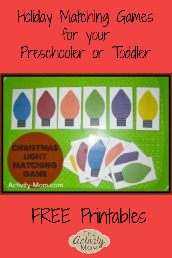 Holiday Matching Games for Kids