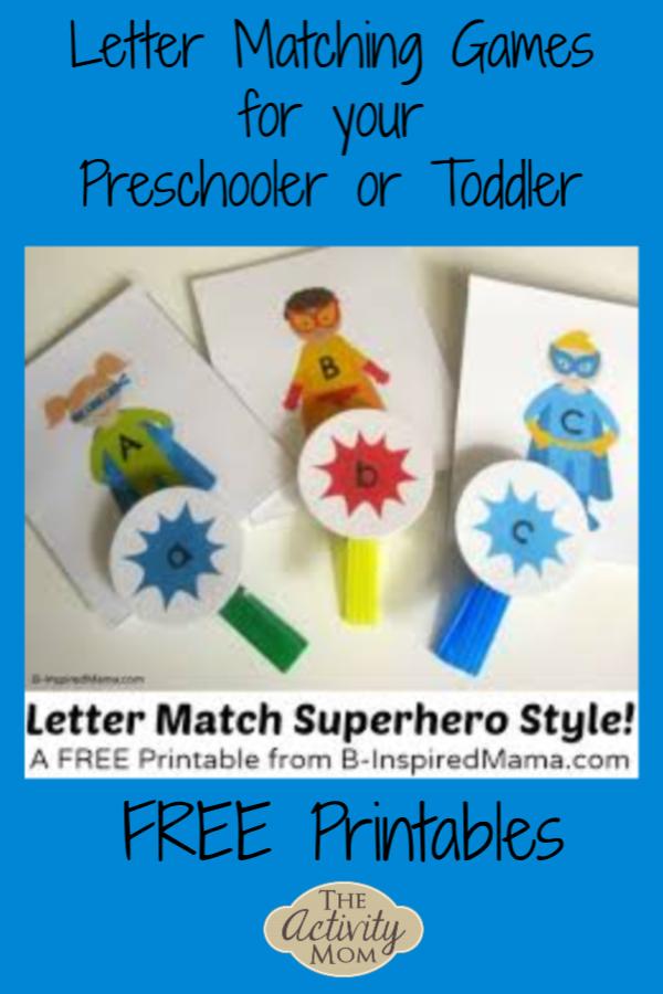 Letter Matching Games for Your Preschooler