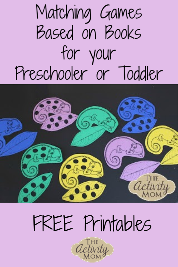 Matching Games Based on Books for Your Preschooler