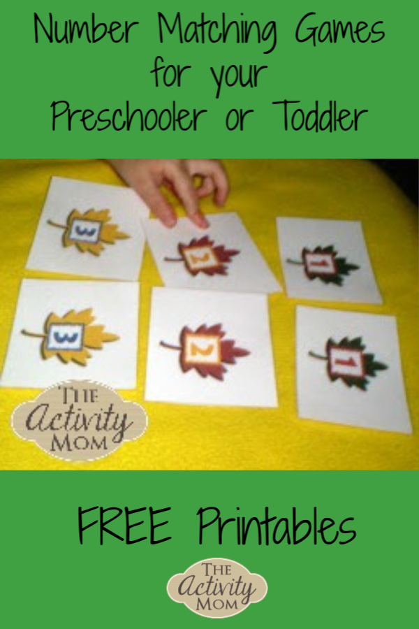 Number Matching Games for Preschoolers