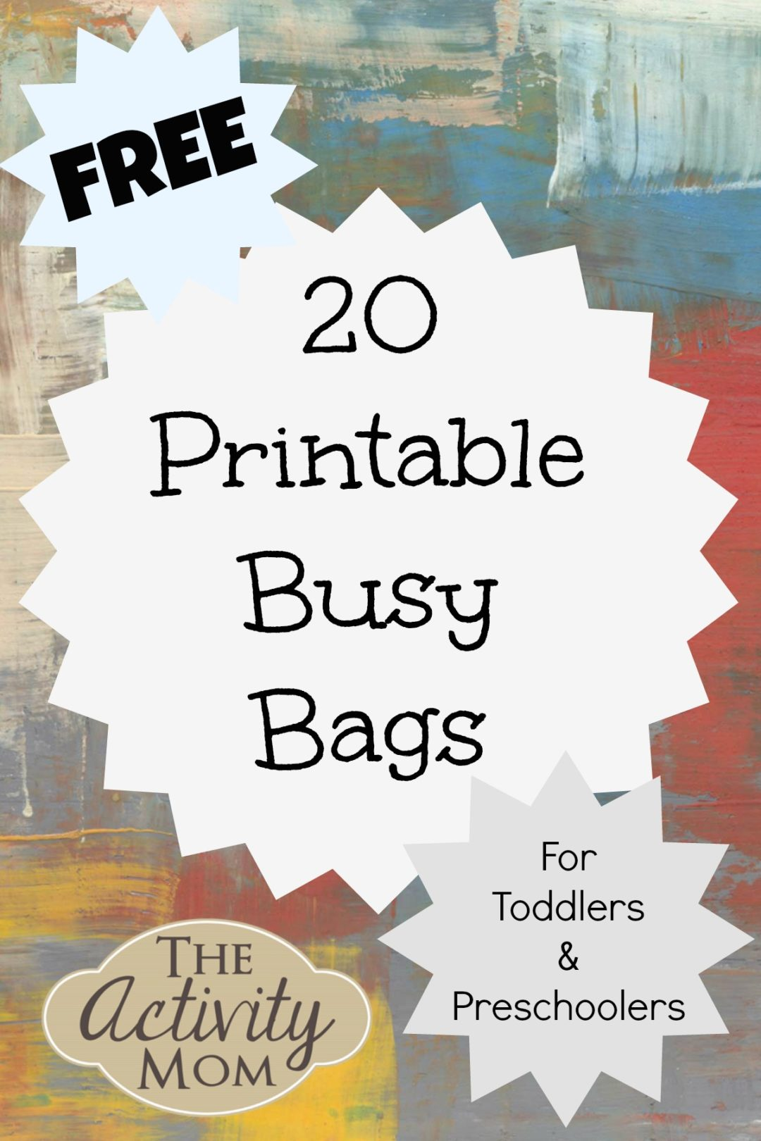 The Activity Mom 20 Free Printable Busy Bags