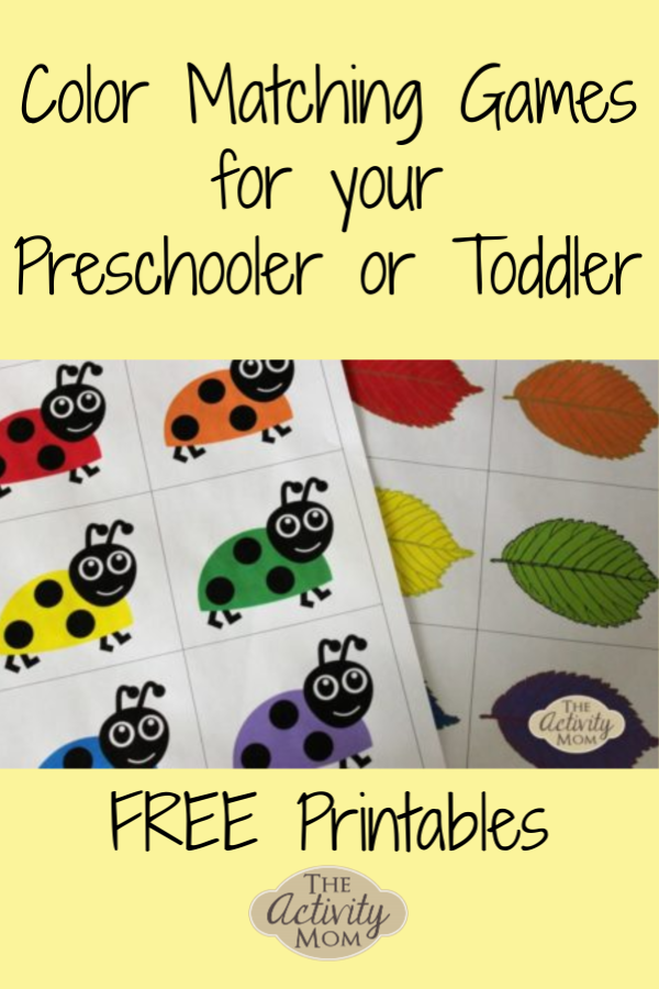 picture relating to Toddler Printable called The Match Mother - Cost-free Printable Matching Game titles