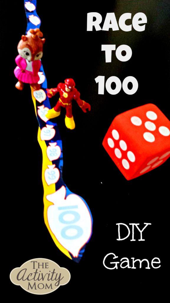 DIY Race to 100 Math Game Mat