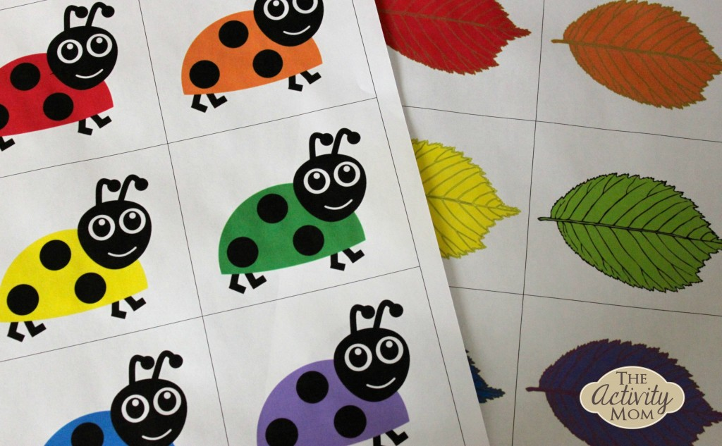 bug color matching - Toddler Activities Printables