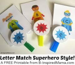 superhero letter matching