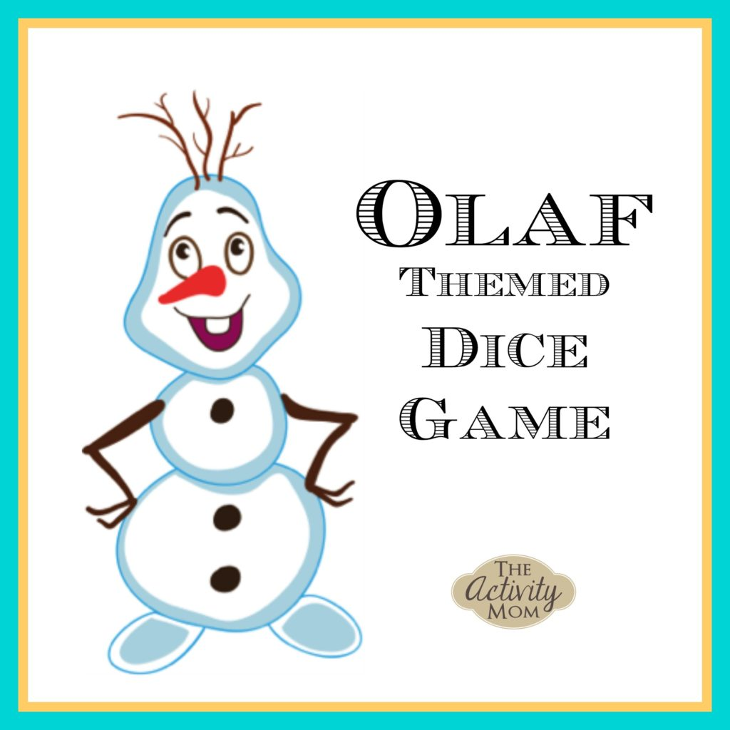 Olaf Themed Dice Game