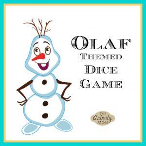 Olaf Themed Dice Game