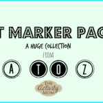 printable dot marker pages