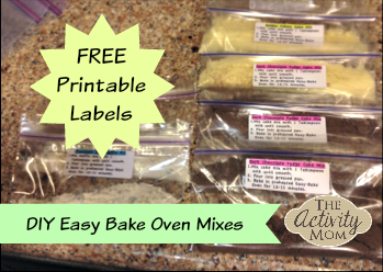 Make Your Own Easy Bake Oven Mixes
