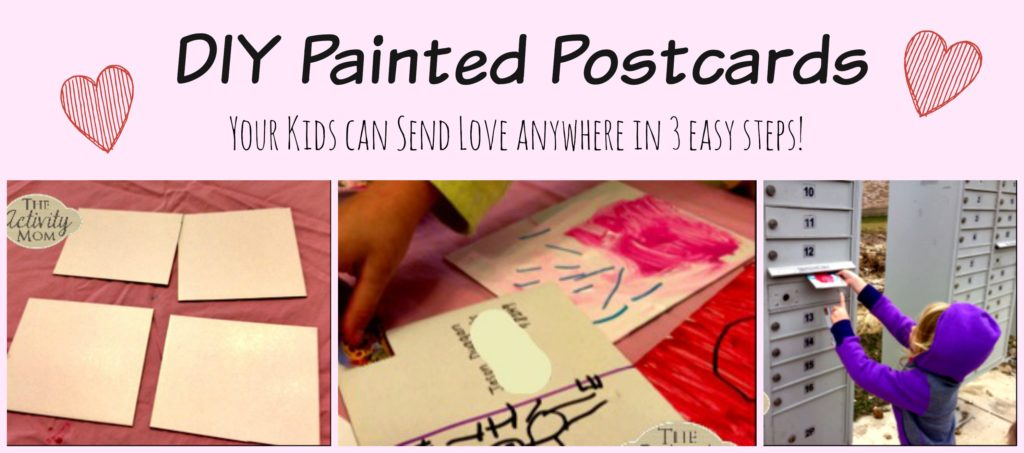 Kids Painted Postcards