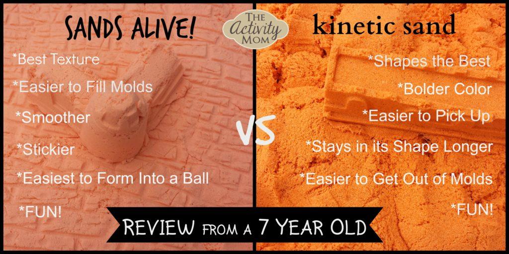 Sands Alive vs Kinetic Sand Review