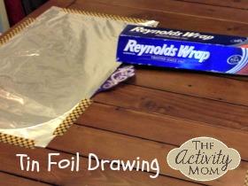 Tin Foil Drawing
