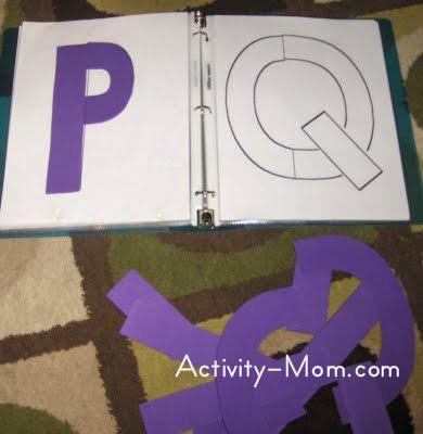 Printable Build a Letter Puzzle