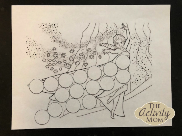 The Activity Mom Frozen Themed Dot Marker Pages The