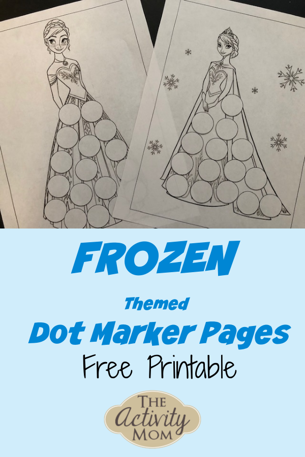 Frozen Themed Dot Marker Pages