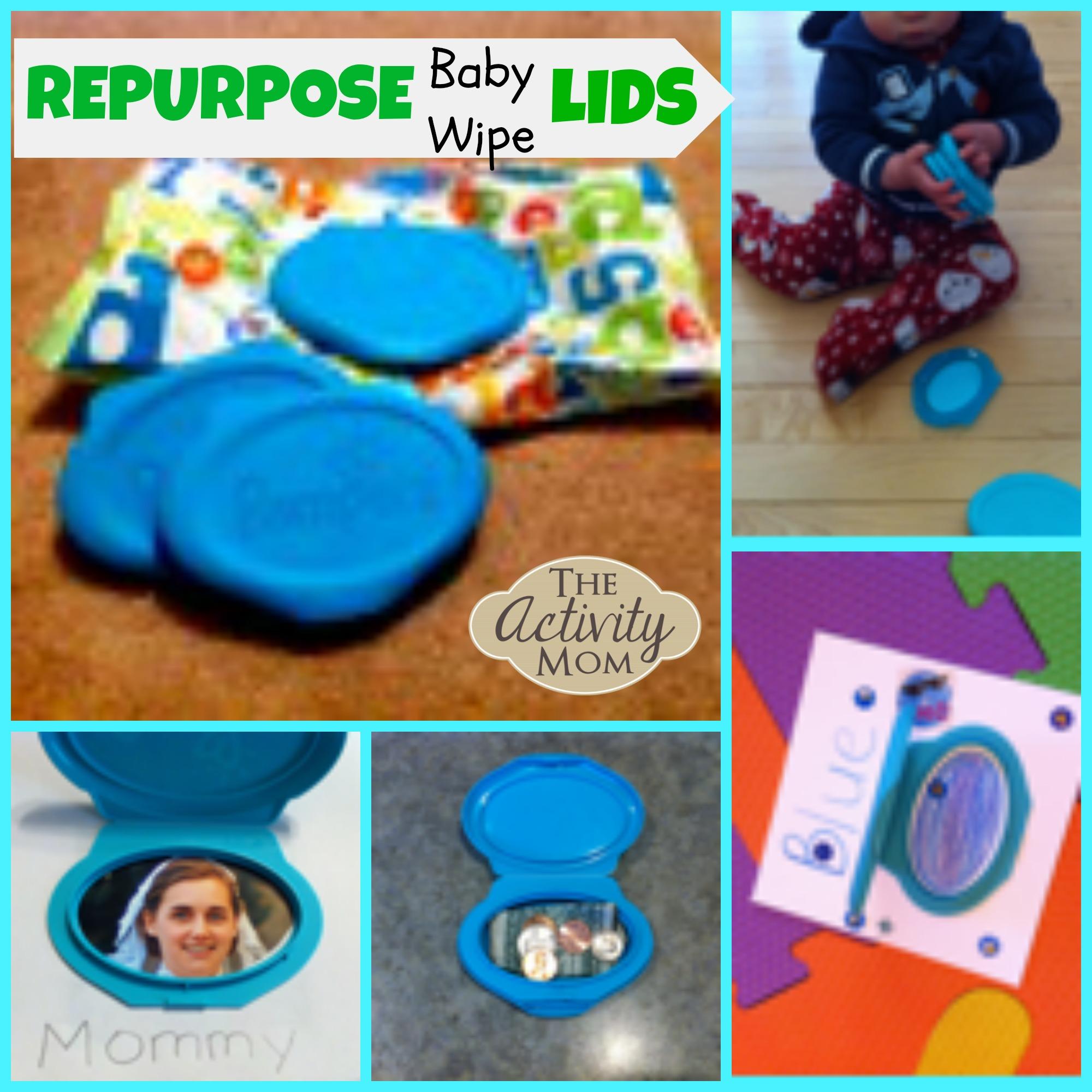Repurpose Baby Wipe Lids