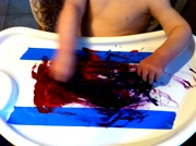 Painting with Your Baby Flower Craft