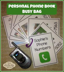 Phone Book Busy Bag