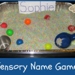 Learn to Spell Your Name Sensory Bin