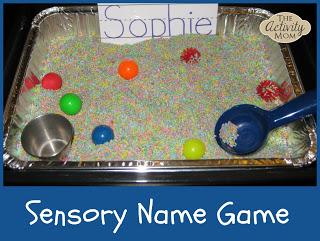 Name Sensory Bin