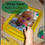Learning Body Parts for Toddlers with Sticky Face Game