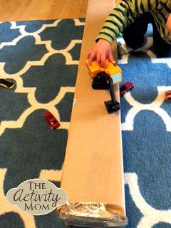 1 Year Old Activities Cardboard Box Ramp