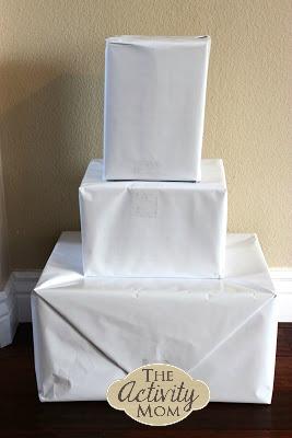 1 Year Old Activities Cardboard Box Snowman