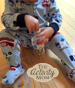 Toddler Activities with Plastic Bottles