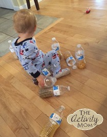 Toddler Activities with Water Bottles