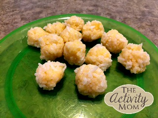 Cooking with Kids Cheese Rice Balls