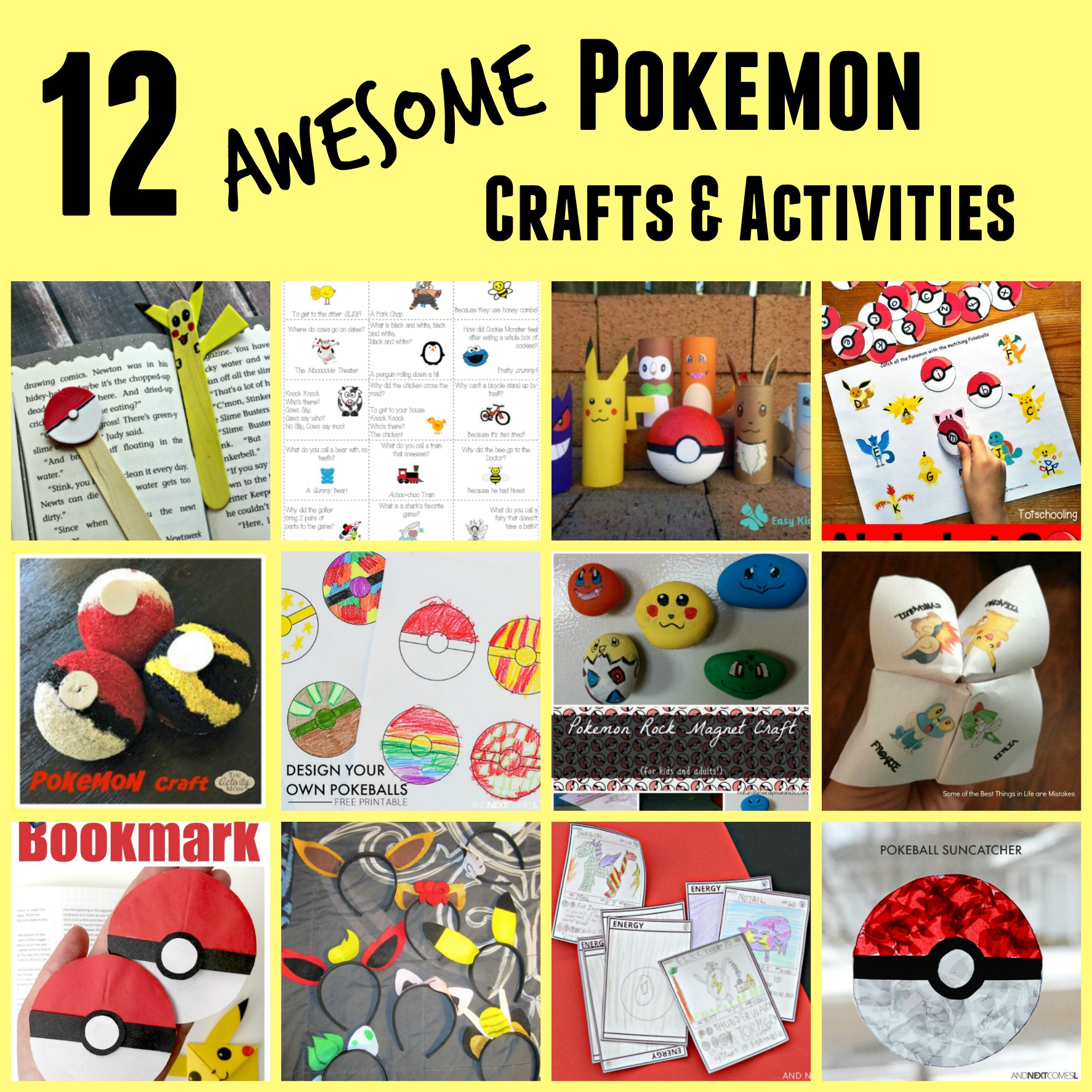 Pokemon Crafts and Activities for Kids
