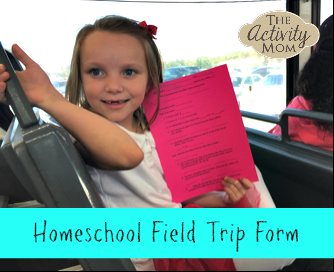 Homeschool Field Trip Form