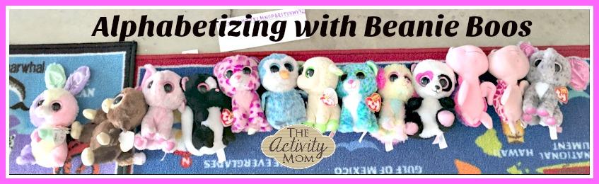 alphabetizing with beanie boos