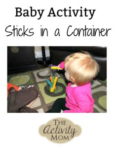 Baby Activity Sticks in a Container
