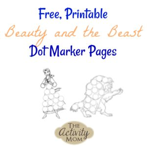 Beauty and the Beast Dot Marker Pages